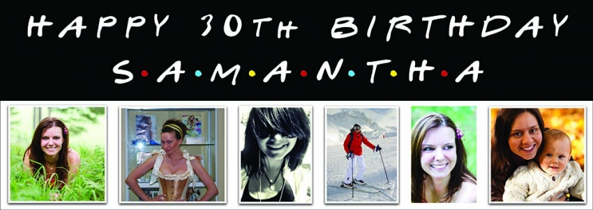 This is your life Birthday Banner - Friends Style - 6 photos